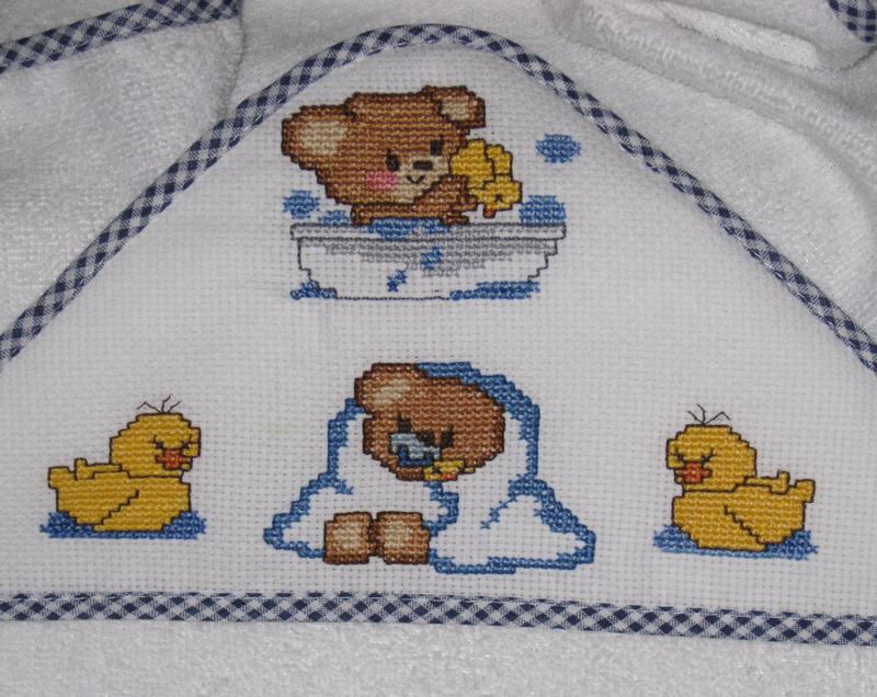 Coccole di maglia gli altri miei lavori for Disegni a punto croce per neonati